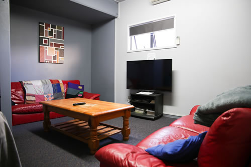 TV room at Taupo Backpackers
